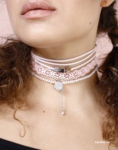CHOKER DAMASCO