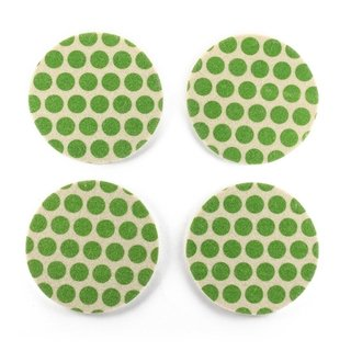 Coasters Dots Green