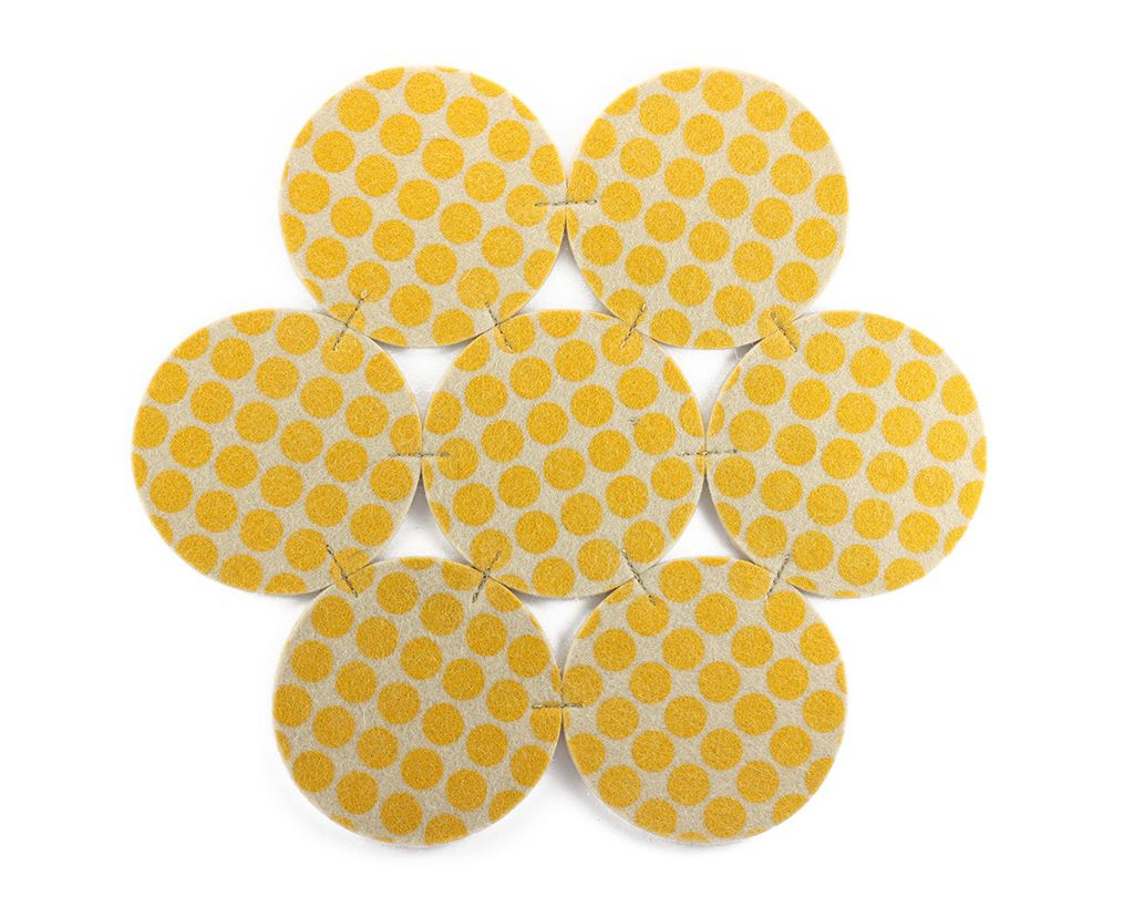 Centerpiece Flower Dots Yellow - buy online