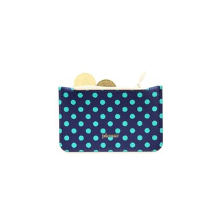 Coin Case Dots Green
