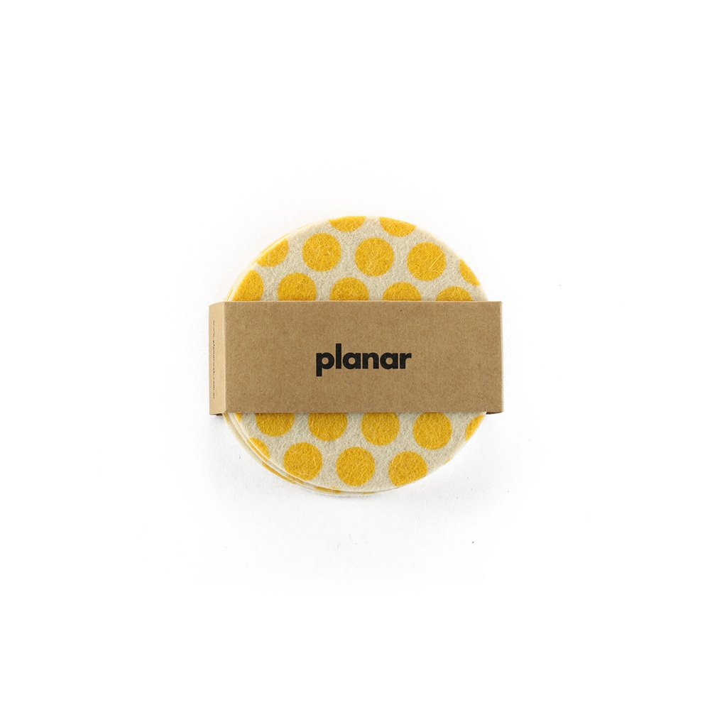 Coasters Dots Yellow - buy online