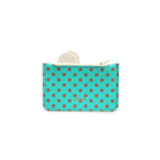 Coin Case Dots Red