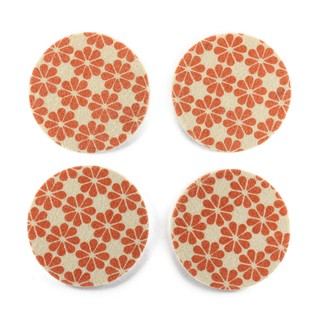 Coasters Flower Orange