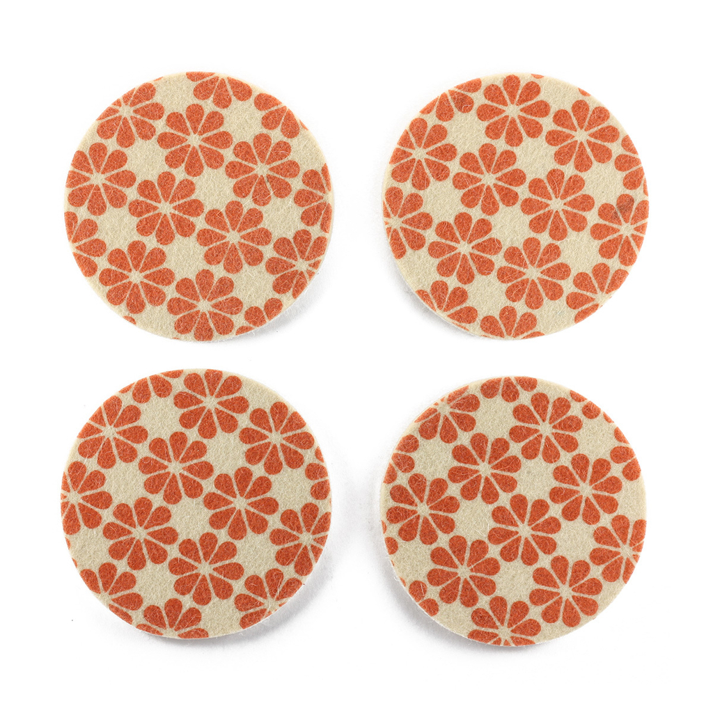 Coasters Flower Orange on internet