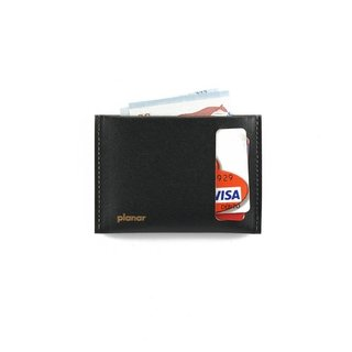 S Wallet Solid Black