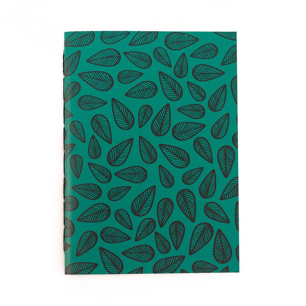 A6 Notebook Leaves Green