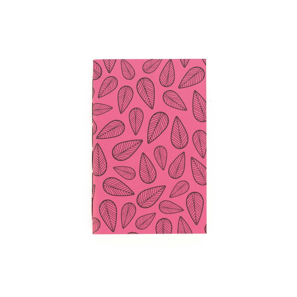 A6 Notebook Leaves Pink - buy online