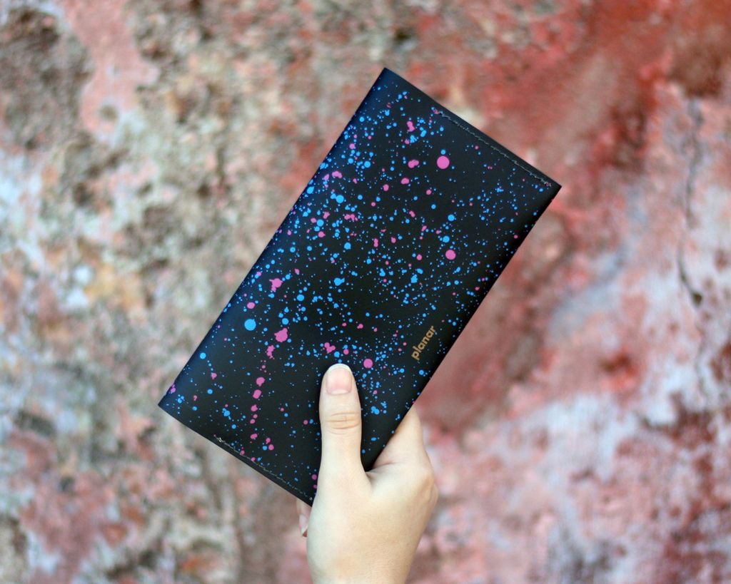 L Wallet Cosmos Black