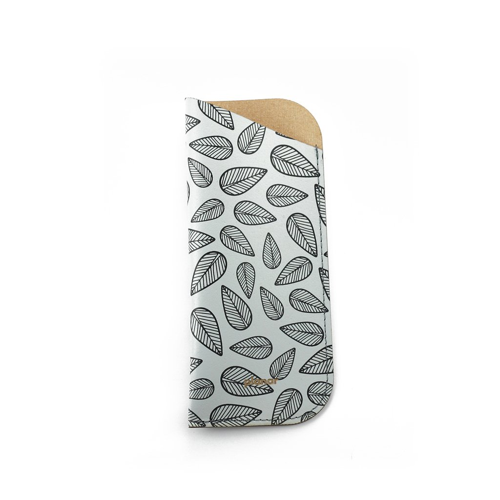 Glasses Sleeve Leaves Grey - buy online