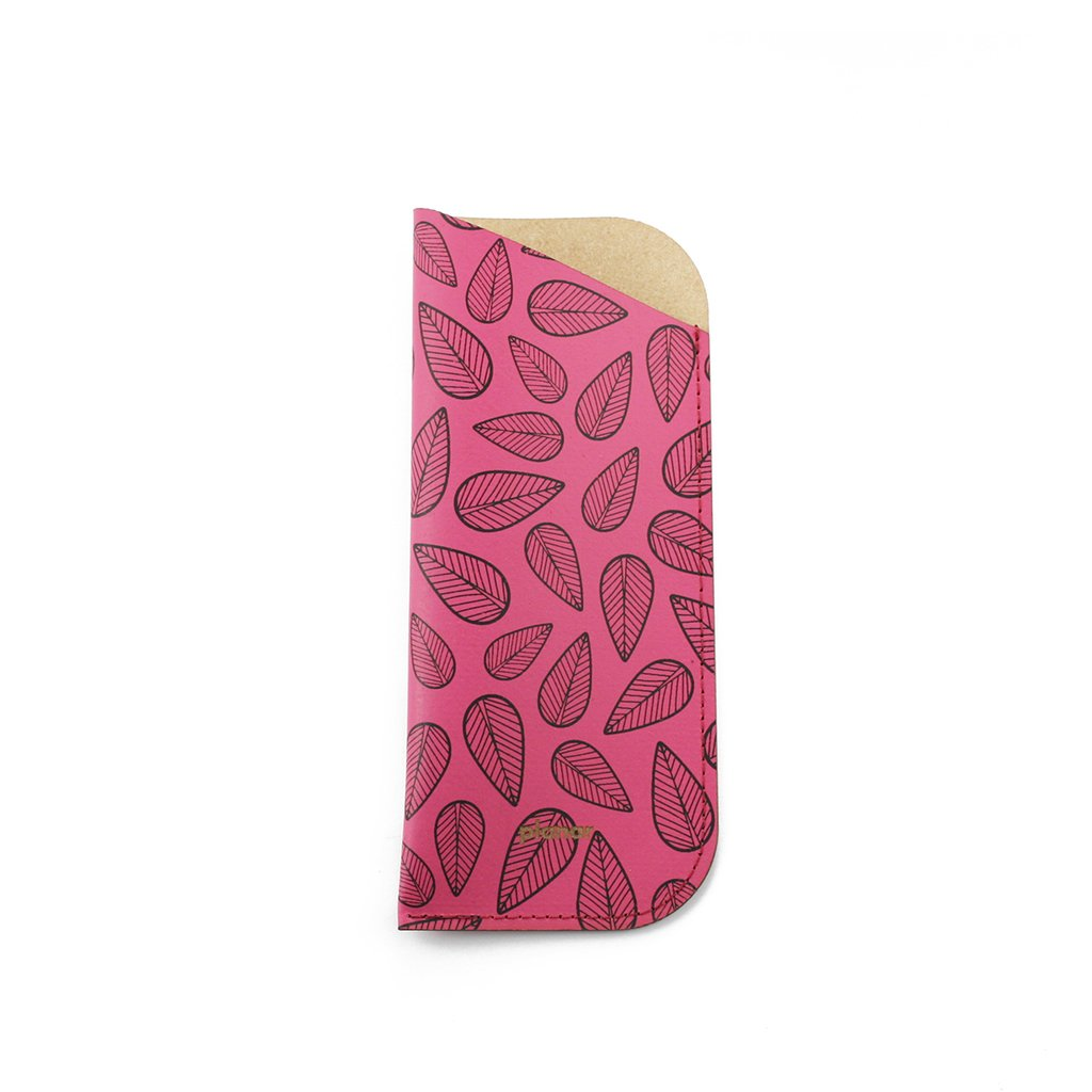 Glasses Sleeve Leaves Pink - buy online