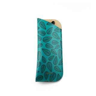 Glasses Sleeve Leaves Green
