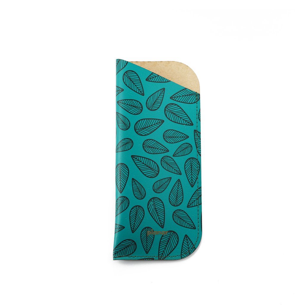 Glasses Sleeve Leaves Green - buy online