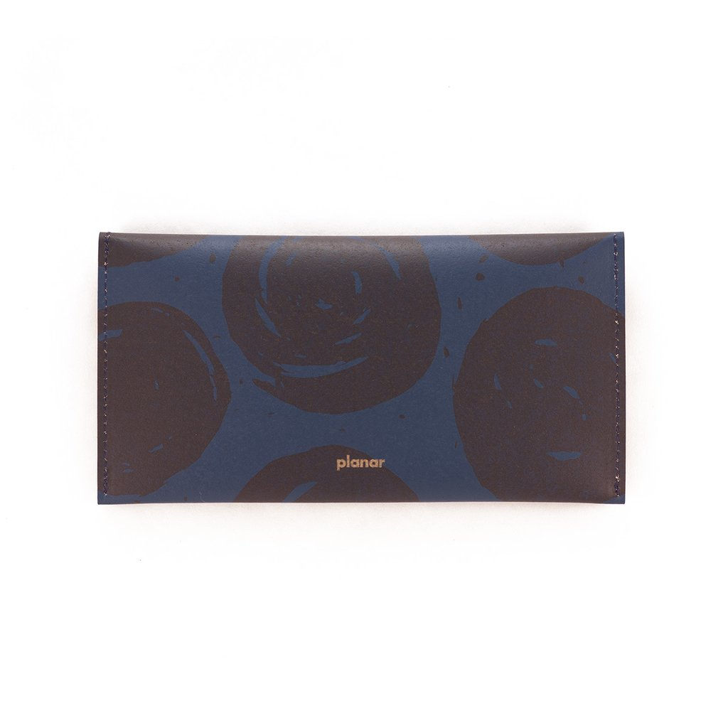 L Wallet Dots Blue