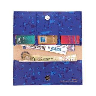 L Wallet Celebration Blue