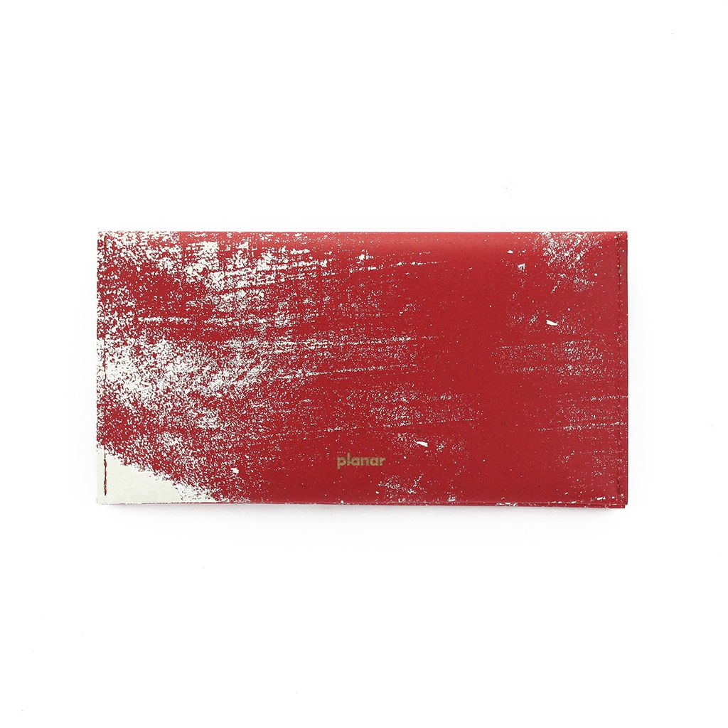 L Wallet Strokes Dark Red
