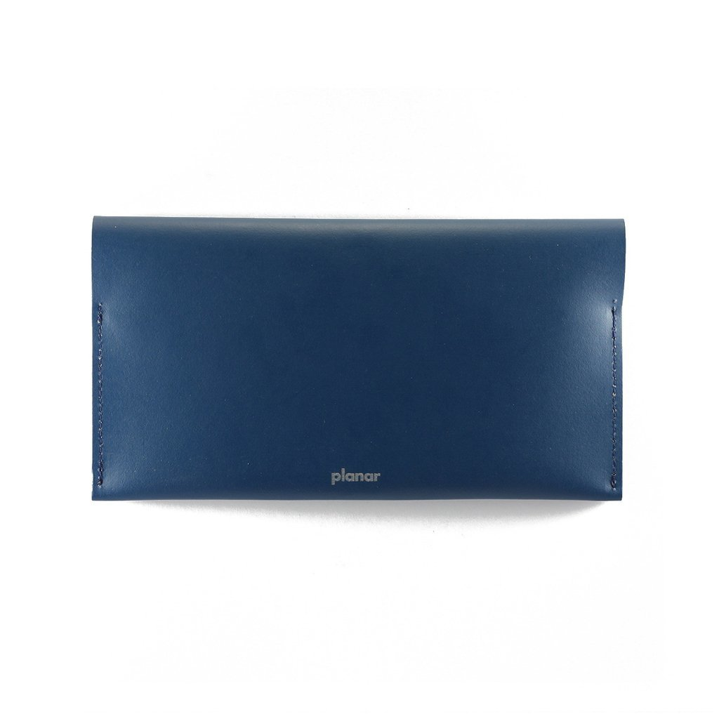L Wallet Solid Blue on internet
