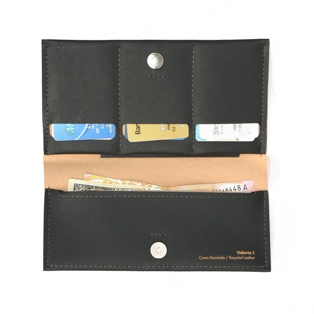 L Wallet Solid Black