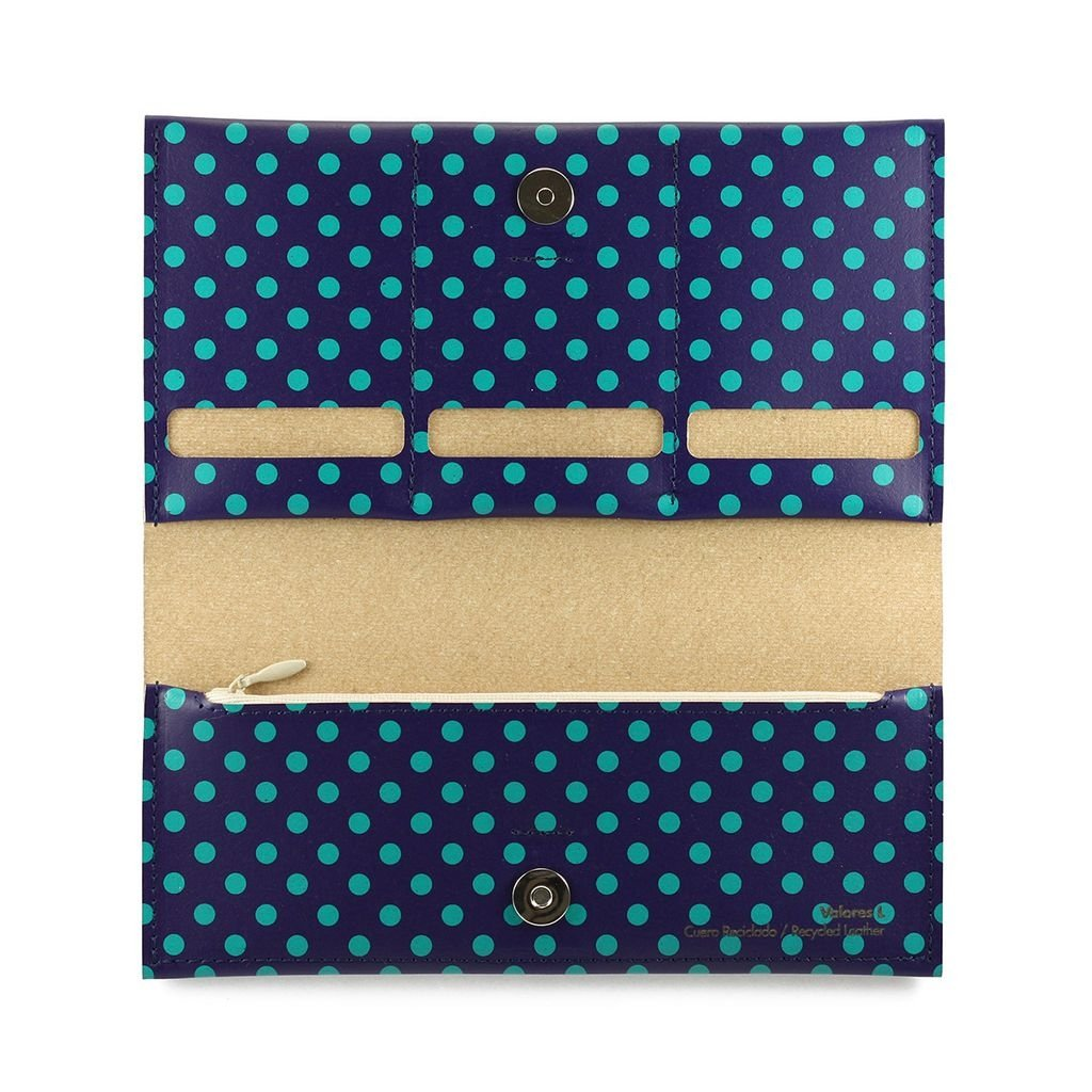 L Wallet Dots Green - buy online