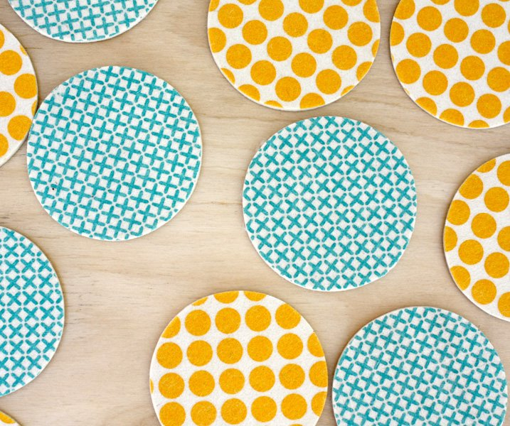 Coasters Dots Yellow on internet