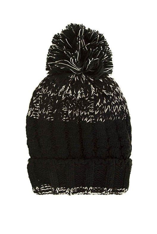 6ade240218e Gorro de lana con pompón combinado