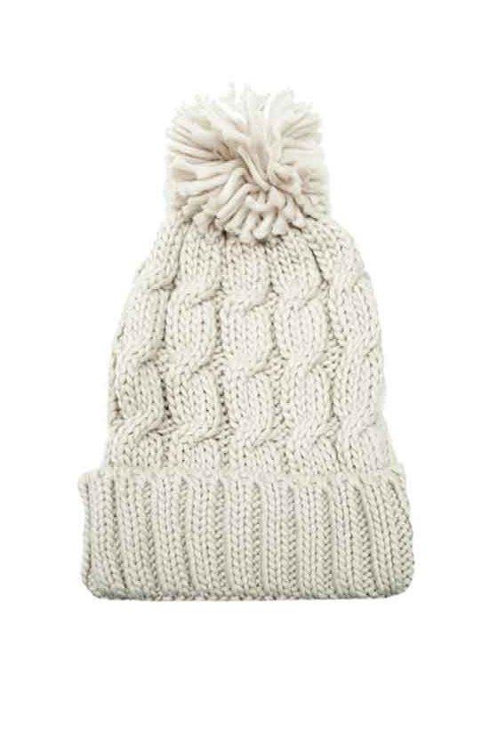 1345a83344b Gorro de lana trenzado con pompón