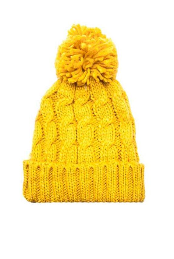 Gorro de lana trenzado con pompón 5f3b5080d1b