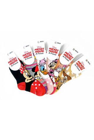 Medias Pack x12 media caña Disney® Mickey Mouse & Friends