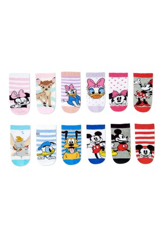Medias Pack x12 media caña Disney® Baby