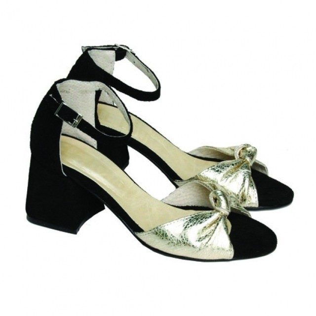 Nudo Black and silver Sandals