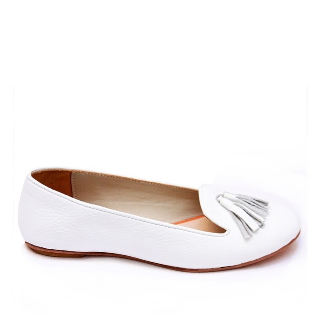 White Ziggy Slipers - buy online