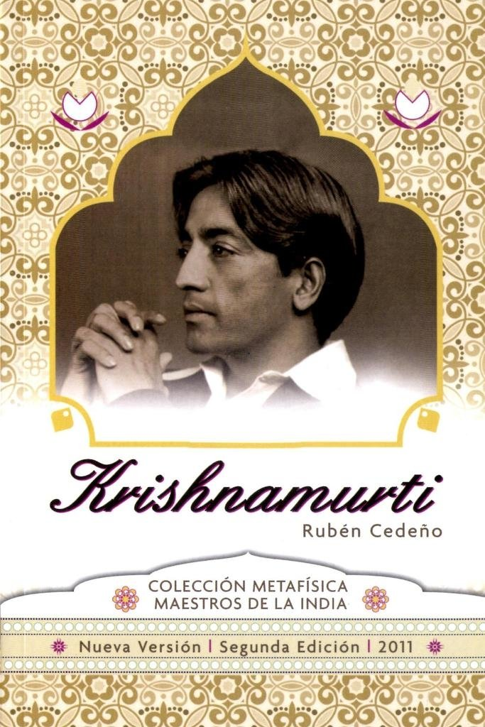 Libro Krishnamurti | Ruben Cedeño