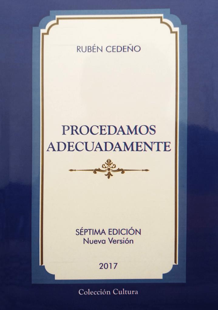 Libro Procedamos Adecuadamente (Nueva Edición) | Rubén Cedeño