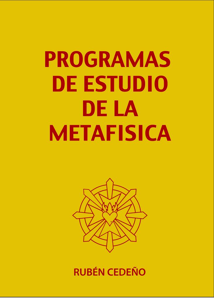 Libro Programas de Estudio de la Metafísica   Rubén Cedeño