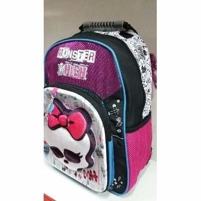 Mochila Escolar Espalda 3d Monster High Lic Original 16 Pulg