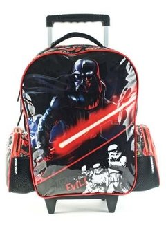 Mochila Star Wars C/carro Trooper & Evil 18  89207