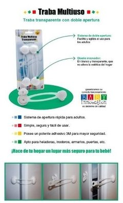 Traba Multiuso Transparente Larga - Baby Innovation -71 - La Pañalera