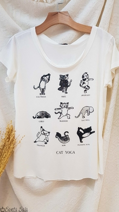 T-shirt Cat Yoga