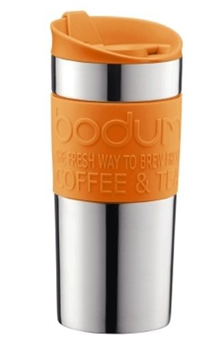 Jarro térmico Bodum Travel Mug 350 ml color Naranja y Acero Inoxidable