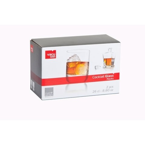 Set 2 vasos para Whisky - Cocktails Glass Rocks Vacu Vin - comprar online