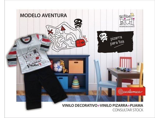 vinilo decorativo pirata aventura