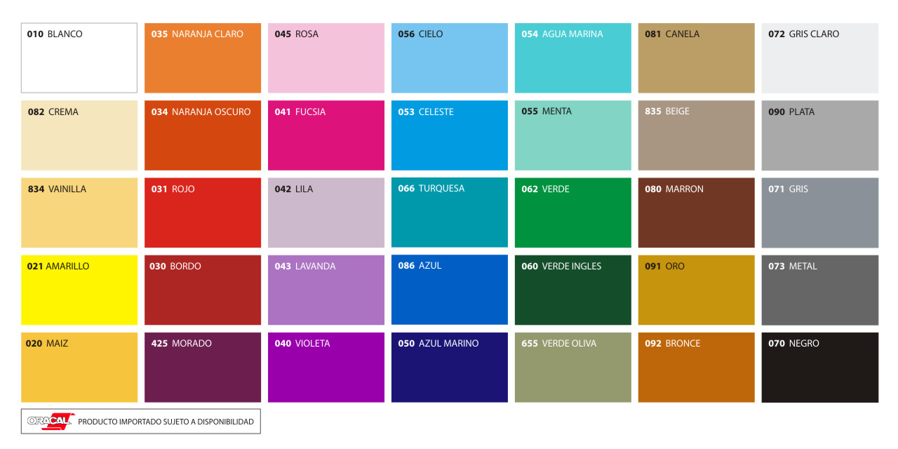 colores del
