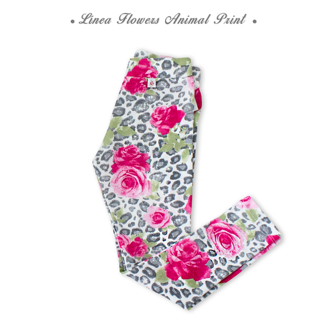 4229034 Calza flowers Animal Print
