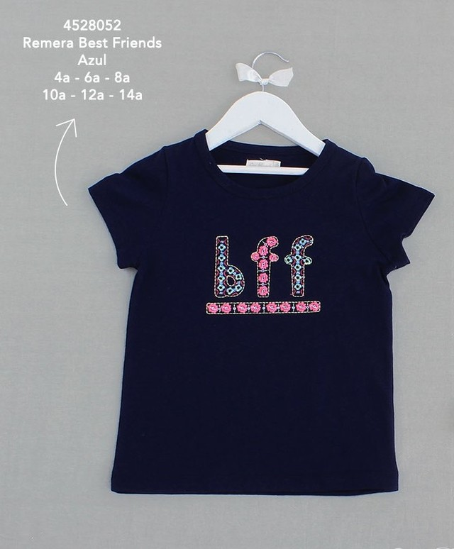 4528052 Remera Best Friends Azul