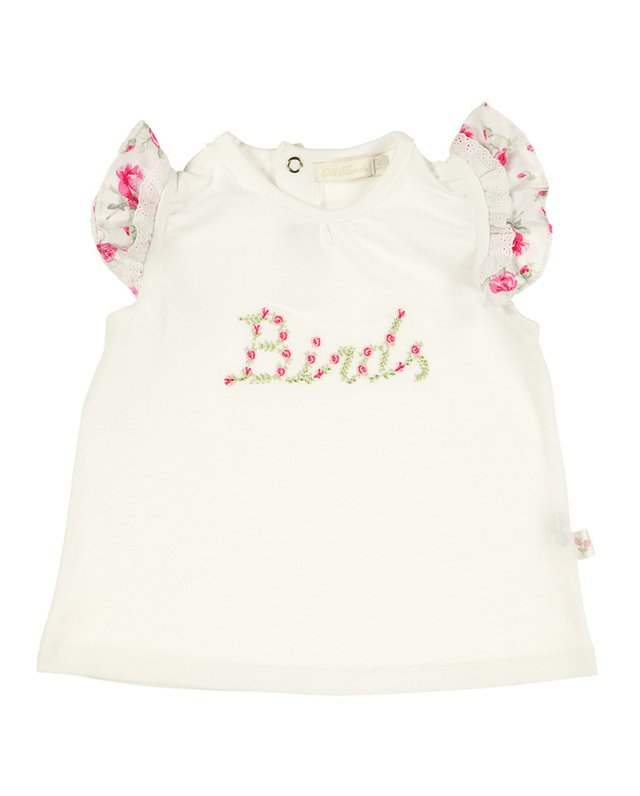 4524022 Remera con Broderie Flowers