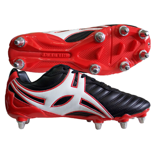 BOTINES DE RUGBY GILBERT SIDESTEP XV LO 8S BK/RD (873820)