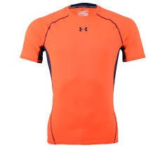 Termica Under Armour HeatGear Naranja Fluo