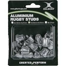 Tapones Gilbert Aluminium Rugby Studs 12x15mm/4x18mm