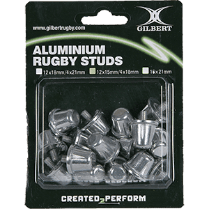 Tapones Gilbert Aluminium Rugby Studs 12x18mm/4x21mm