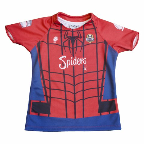 Camiseta de Rugby Picton Wariors Spiderman Niño