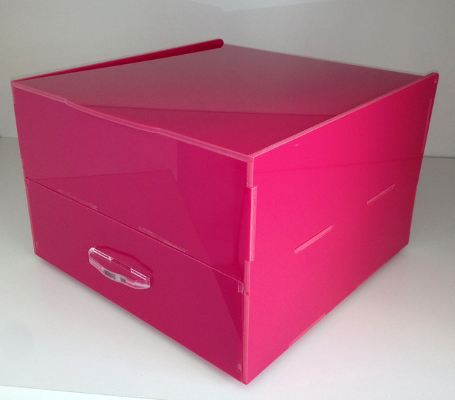 Caixa Make Quadrada com gaveta Rosa - buy online